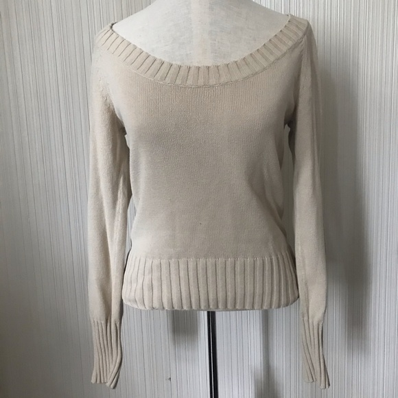 Joe Fresh Boatneck Sweater with a Ribbed Trim